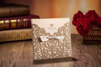 wedding invitation card - Personalized Wedding Invitations Cards Laser Cut Wedding Invitations With Envelope Ribbon Free Customised