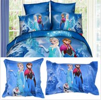 home bedding - New Pillow Case Cotton Frozen Princess Cushion Cover Decor Home Bedding Supplies DH04