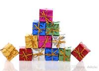 christmas box - Mini gifts boxes christmas tree ornaments cm christmas decorations many colors mix Christmas Trees Pendant