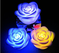 Wholesale 500PCS Carton Changeable Color LED Rose Flower Candle lights roses love lamp DHL Fedex