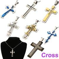 stainless steel cross pendant - Unisex Men Stainless Steel Cross Pendant Necklace Chain Kimisohand fashion necklaces for women colar accessories J1088