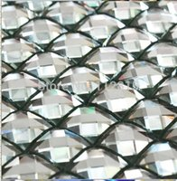 Wholesale Beveling edge white color faced diamond mirror glass mosaic tile for kitchen backsplash mirror glass mosaic tile