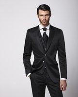 bc vest - Generous black Mens wedding tuxedos notched Lapel Wedding suits for Men two button mens suits three piece Suit Jacket Pants vest tie BC