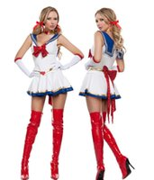 Wholesale Cosplay Dress Sailor Moon Costume Cosplay Halloween Fancy dress Up Sailormoon Outfit Gloves M Cosplay Costumes