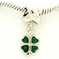 baby cross bracelet - Fits Pandoar Bracelets Fashion DIY Unique Jewelry Silver four leaf pendant bead fit pandora Bracelet Necklace Jewelry Accessories Baby Gif