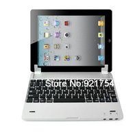 adjustable keyboard stands - Bluetooth Wireless Aluminum Chrome QWERTY Sleep Wake Keyboard With Adjustable Stand Holder For iPad Silver