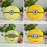 Wholesale 2015 Newest Despicable Me Cute Minions plush coin purse cartoon zipper coin bag card package High quality
