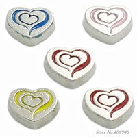 """Cheap 10pcs lot """"Heart"""" floating charms DIY charms for necklace & bracelets fashion charms accessories glass Locket charms LSFC183*10"""