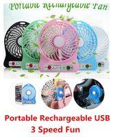 Wholesale Mini Portable Fan Multifunctional USB Rechargerable Kids Desk Pocket Table Fan LED Light Battery Adjustable Speed F95B Multi Color