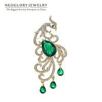 costume brooch jewelry - Neoglory New Arrive Wedding Phoenix Brooches Bridal Zircon Broach Costume Jewelry Designer Women Accessories Gifts