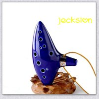 Wholesale 2015 Hot sale Hole Ocarina Ceramic Alto C Legend of Zelda Zelda Ocarina Flute Jecksion