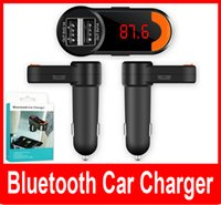 Wholesale Bluetooth Car Charger New Car Handfree Chargers FM Transmitter MP3 Player Dual USB for Car BC10 V A
