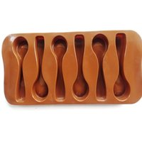 Wholesale 3PCS New Style Spoon Design Silicone Chocolate Jelly Candy Cake Ice Mold Baking Mould Tray Kitchen Tool Kit