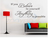 believe decorations - believe in yourself vinilos paredes home decor creative quote wall decal decorative home decoration removable vinyl wall sticker