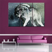 animal wounds - HD Canvas Print home decor wall art painting Picture no frame Wounded Wolf Winter