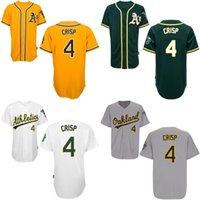 away oakland - Baseball Jerseys Oakland Athletics Coco Crisp Home Away Green White Yellow Grey Authentic Stitched Jersey