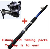 Heavy rod and reel - Fishing rod Fishing vesselFISHING ROD AND REEL SET Lure Fishing Reels spinning reel lur Fish Tackle Rods Cheapest High Carbon