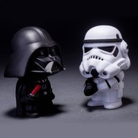 Star Wars Figures Poupées 2pcs / set Black Knight Darth Vader Stormtrooper Figurines Figurines Collection de jouets pour les enfants SD496