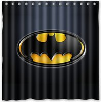 batman shower curtains - Custom Superhero Batman Logo Fans Printed Size180cmx180cm Waterproof Polyester Shower Curtain