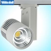 Wholesale 2016 Hot sale LED Track Light W COB Rail Light Spotlight Lamp Replace W Halogen Lamp v v v v v Warm Cold Natural White