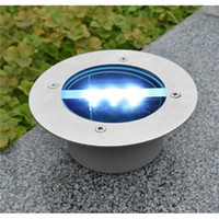 solar lights - Solar Power LED Light Buried Lamp Path Way Garden Under Ground Decking Yard Stainless Steel Ground Buried Solar Deck Light