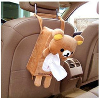 Wholesale New Rectangle Cute Rabbit Bear Home Office Car Tissue Box Cover Holder Paper Bag Pouch Napkin Case U0264