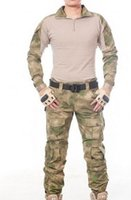 Wholesale us army military uniform for men tactical combat suits tight clan CS field jacket suits clothes army uniform with pads