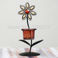 asian candle - 2014 new sales Iron Candlestick retro metal wedding home decorations Southeast Asian style wedding gifts