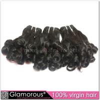 Wholesale Brazilian Hair Weaves A Good Quality Virgin Human Hair Extensions Peruvian Malaysian Indian Funmi Hair Aunty Funmi Bouncy Curly