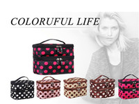 toiletry bag - Makeup Cosmetic Bags Toiletry Retro Dot Beauty Wash Case Organizer Holder Handbag For Travel
