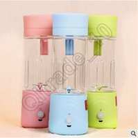 Wholesale 30pcs CCA3540 Creative Rechargeable Juice Cup Mini Fruits Extractor Portable Juice Extractor Mini Extractor Juicer Cup Creative Water Bottle