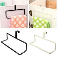 bar rags - Multifunctional Storage Rack Iron Single Bar Bathroom Kitchen Supplies Hook Shelf Hanging Towels Aprons Rags Black White