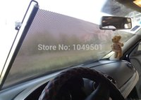 Wholesale cmx50cm Retractable Car Front Back Windshield Sun Shade Cover Visor Sunshield