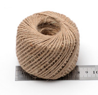 Wholesale JY M Chic Natural Jute Twine Cord Rustic String Cords Hemp rope Wrap Craft Making Decor Rope for Packing Photo Decor Tag lanyard