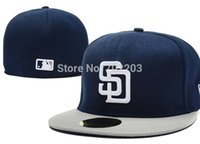 Wholesale San Diego Padres Fitted Cap Embroidered Team Logo Baseball Cap Casual Style sport Hats