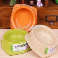 bamboo dog bowls - New Pet Products Feeding Dishes Environmentally Friendly Bamboo Fiber Pet Bowl Dog Non toxic Single Food Bowl Pet Feeding Tools