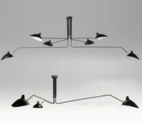 not include ceiling lamp - Serge Mouille Pole Pendent Lamp Sabre Rattling Swing Duckbill Ceiling Lamp Metal Dining Room Ceiling Lamp mechanical design light heads