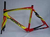Wholesale Full Carbon Road Frame cm Road Bike Frame yellow and red