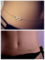 belly ring waist chain - Europe and United States and sexy bikini waist Belly chains Metal LOVE beach chain Belly dance body chain