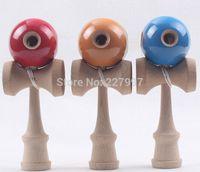 Wholesale 20pcs Hole Kendama Japanese Traditional Wood Game Kids Toy PU Paint Beech