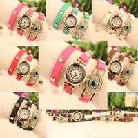Cheap Casual leather bracelet wrist watch Best Women's Quartz-Battery wristwatch