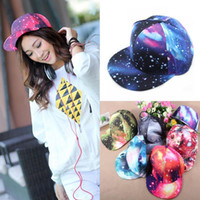 Ball Cap Photo Color Unisex Promotion!New Fashion Galaxy Baseball Cap for Women,Space Pattern Print Snapback Unisex Hip Hop Peak Hats casquette H3145