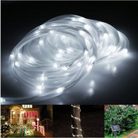 Wholesale Waterproof Solar Fairy Lights LED Rope Lights ft M LEDs V LED Strings Christmas Party Tree Outdoor String Lights