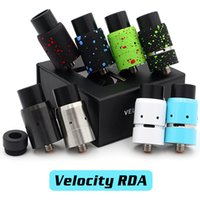 boring - Vaporizer Velocity RDA Clone Rebuildable Atomizers Splatter With Wide Bore Drip Tips Newest Colors In Stock Fit Box Mods DHL Free