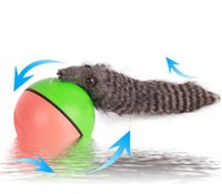 animal chaser - Funy Rolling Motor Ball Pet Cat Dog Kids Chaser Jumping Moving Toy Stuffed Plus Animals