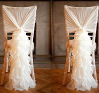 Wholesale 2016 Custom Made Tulle Chair Covers and Sashes for Weddings with D Delicate Wedding Decorations Chair Covers Wedding Accessories Suppliers