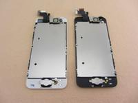 100% de reemplazo nuevo para el iPhone 5 5G LCD digitalizador Asamblea Frente Cámara Sensor de proximidad Inicio botón Flex