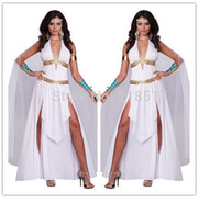 adult greek warrior costume - Female White Egyptian princess dress Halloween queen cosplay costume Party adult warrior clothes Greek goddess cosplay clothes