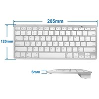 Wholesale PC Laptop White Wireless Keyboard Mouse Set for Macbook