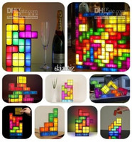 ball jar gifts - Christmas gift Fashion Tetris Stackable LED Desk Lamp Tetris Lamp Party supplies